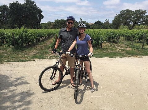 <b>PALATE CLEANSER:</b> Between tastings, we biked 10 miles through the heart of the valley.