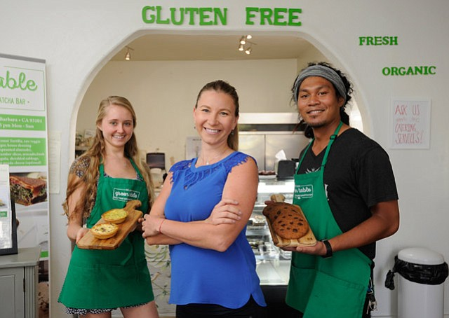 <b>VEGGIE GOURMET:</b>  Alexandra Zarnescu makes vegan, gluten-free food fun at her West De la Guerra Street restaurant.