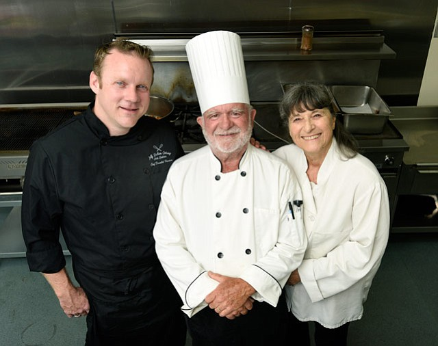Donald Hardin and Ian & Diane Trenwith of Jolly Brothers Catering