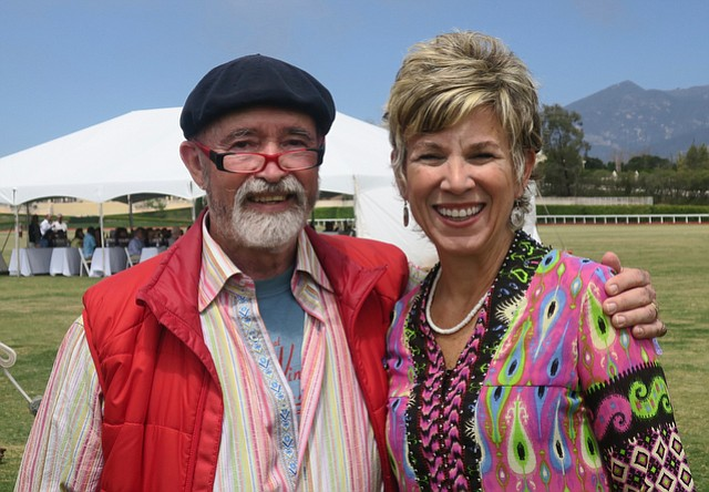 Central Coast Wine Classic founder and chairman Archie McLaren with auctioneer Dawn Marie Kotsonis.