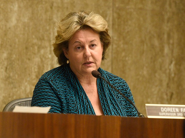 <b>FILL THE GAP? </b> Supervisor Doreen Farr pointedly asked whether Cottage Health could do more to help meet Santa Barbara's pressing need for more medical detox beds.