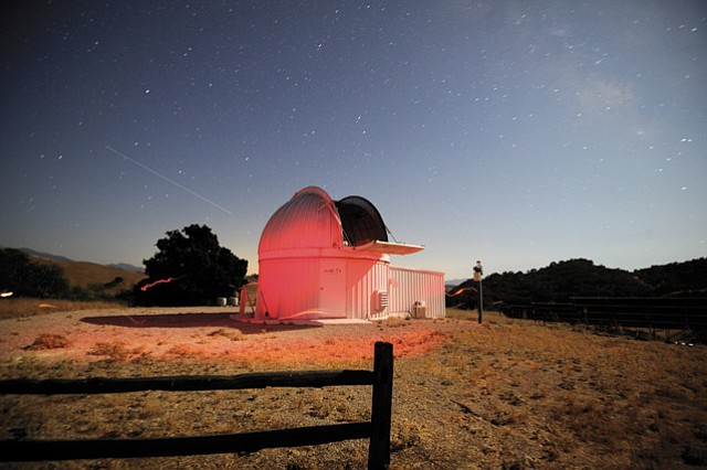 <b>CLOSING THE GAP: </b>LCO's powerful telescope at Sedgwick Reserve turns the tiny speck of Saturn in the night sky into a shimmering yellow sphere that feels within arm's reach.