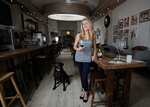 <b>STATE STREET SIPS: </b> Former barista Danielle Ogaz serves Central Coast wines and more.