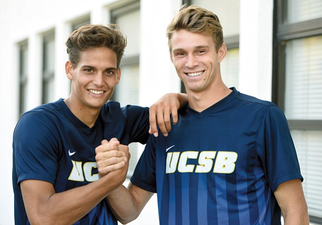 <b>POWER COUPLE:</b> Kevin Feucht and Nick DePuy roam all over the pitch for UCSB's soccer team.