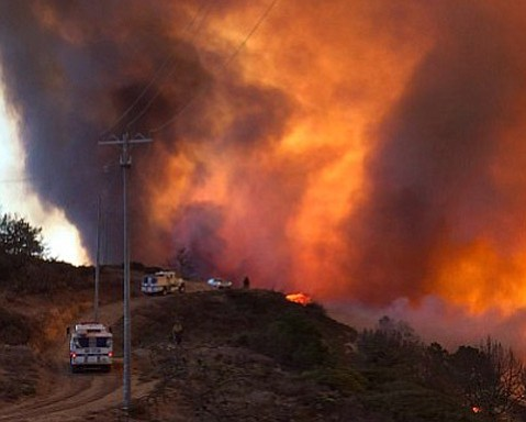 Canyon Fire on Vandenberg Air Force Base broke out late Saturday afternoon.