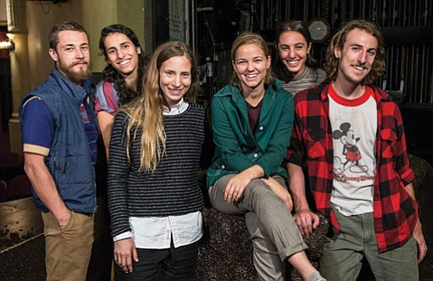 <strong>SAFE LANDING:</strong> Company members include, from left to right: Martin Durov, Laja Field, Shannon Gillen, Emma Whiteley, Rebecca Diab, and Jason Cianciulli.