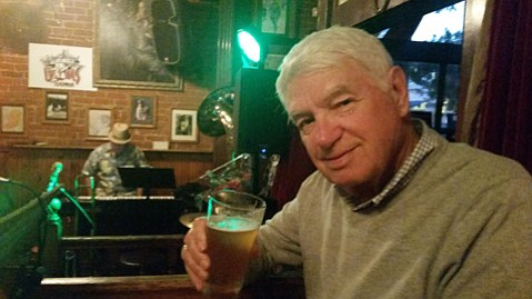 <b>HONKY-TONK TIME: </b> Barney tastes jazz and beer at the James Joyce.
