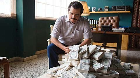<strong>BLOOD MONEY:</strong>  Wagner Moura returns as Pablo Escobar in Season 2 of the Netflix series <em>Narcos</em>.
