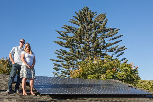 Michael and Jill Murray are the 500th customer for the CEC's Solarize Program, which generates a total of 2.5 megawatts on individual properties.