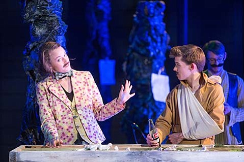 left: Anna Telfer as Rosalind