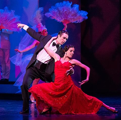 <strong>COUPLES THERAPY:</strong> Jack Stewart and Leila Drake Fossek leave it all on the dance floor as Yolanda and Frank Veloz in State Street Ballet's An American Tango.