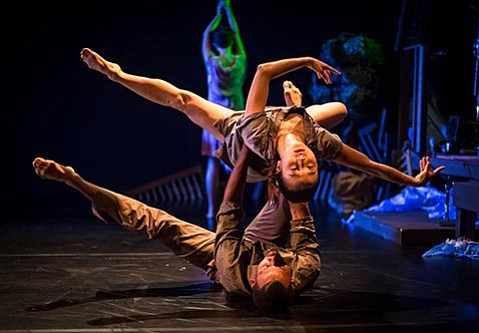 <strong>NEEDING A LIFT:</strong>  In the new show <em>After It Happened</em>, Invertigo Dance Theatre looks at the ways in which people pick themselves up and recover from natural disasters.