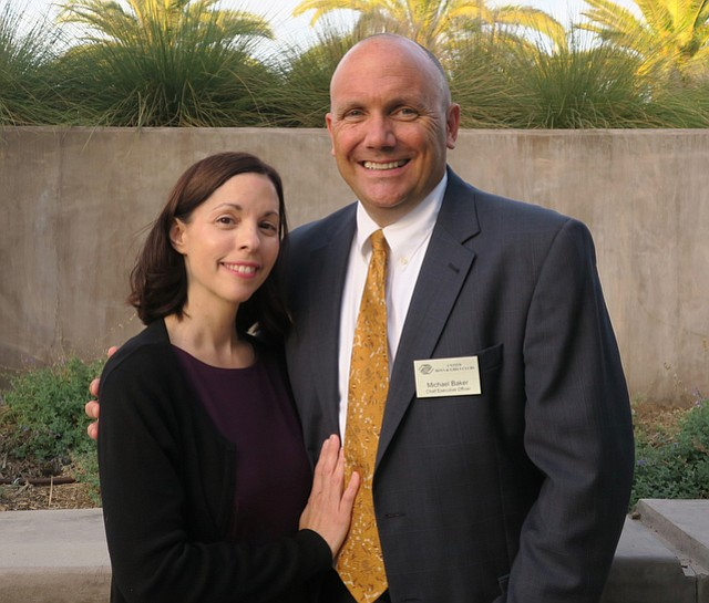 Executive director Michael Baker and his wife, Marian Baker.
