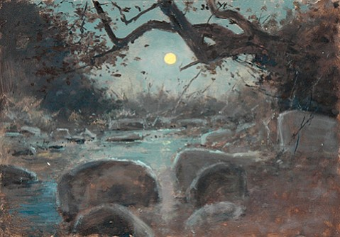 """""""Full Moon and Running Creek"""" by Lockwood De Forest"""