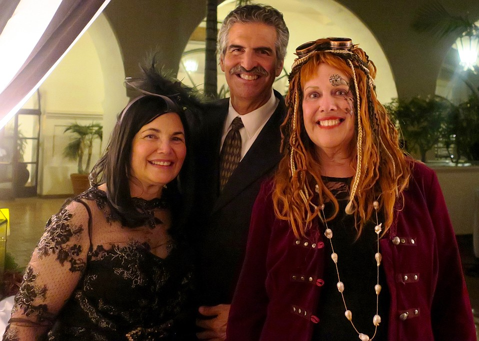 Major donor, board member, and event co-chair Kandy Luria-Budgor, KEYT's John Palminteri, and event co-chair Judy Egenolf.