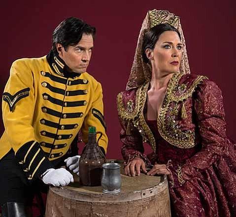 <strong>LOVESICK:</strong>  Don José (Harold Meers) enters into a destructive relationship with Carmen (Leann Sandel-Pantaleo) in OSB's <em>Carmen</em>.