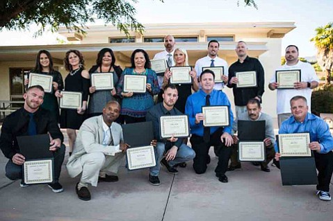 This year's Rescue Mission rehab program graduates.