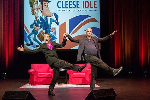 <strong>KICKING IT:</strong> Eric Idle (left) and John Cleese offer up a humorous retrospective of their lives.