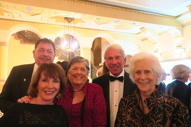 Carmen production sponsor Roger Chrisman, board member Sandy Urquhart, Carmen sponsor Sarah Chrisman, Bob Urquhart, and board chair Nancy Golden.