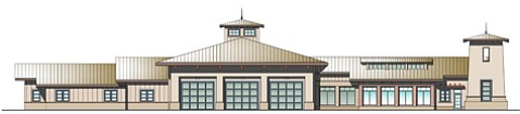 Preliminary design for Fire Station 10 proposed for Western Goleta.