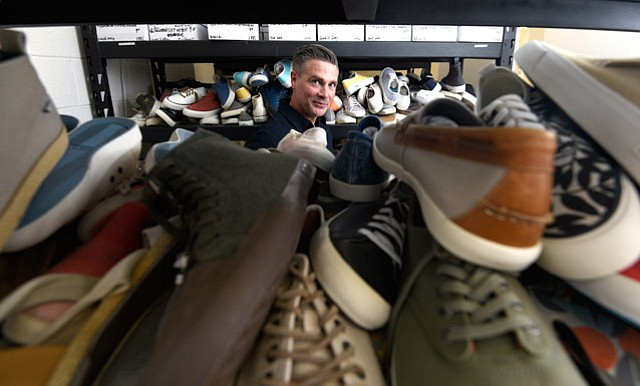 <b>TOKYO TO ORTEGA STREET: </b> Steven Tiller discovered the forgotten 1960s brand SeaVees in a Tokyo thrift store and then started his own company based on the old sneaker model.