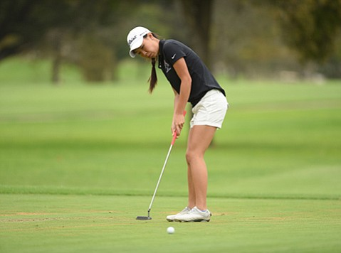 Carolin Chang was the medalist in 18 golf tournaments, including two State Championships, during her career at SBCC.