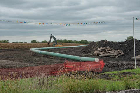 The Dakota Access Pipeline being built in central Iowa.