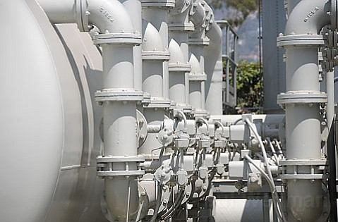 Santa Barbara's dormant water desalination plant.