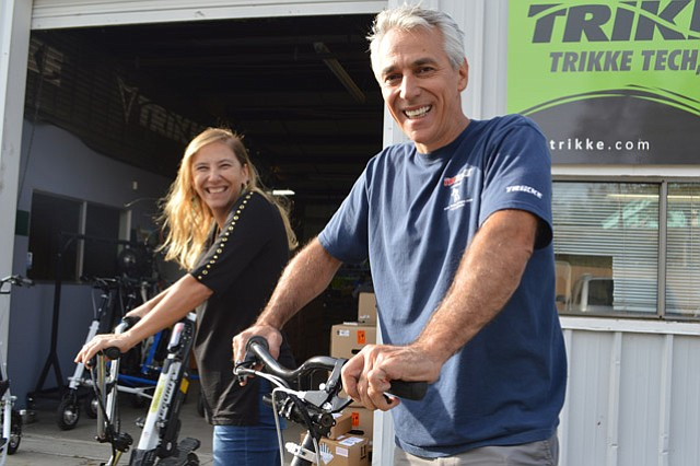 <b>TRIKKE TWINS:</b>  Husband-wife duo Gildo Beleski and Ana D'Arace run their workshop and showroom in Buellton but are hoping to expand their business to China and beyond.