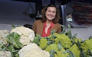 Laurence Hauben is a familiar site at Farmers Market