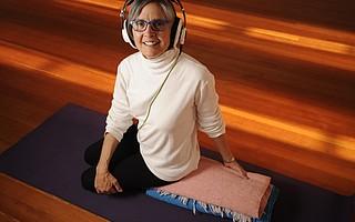 Barbara Hirsch at the Santa Barbara Yoga Center