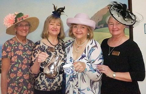 Secretary Claudia Scott, President Debra Stewart, Honorary Event Chair Barbara Burger, and Vice President Mary Dan Eades.