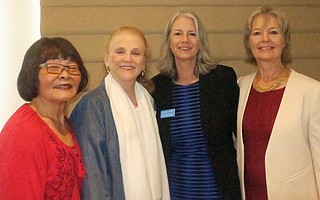 Past President Sharon Hoshida, Past President and Founder Susan Rose, President Catherine Swysen, and Past President Barbara Lindemann.
