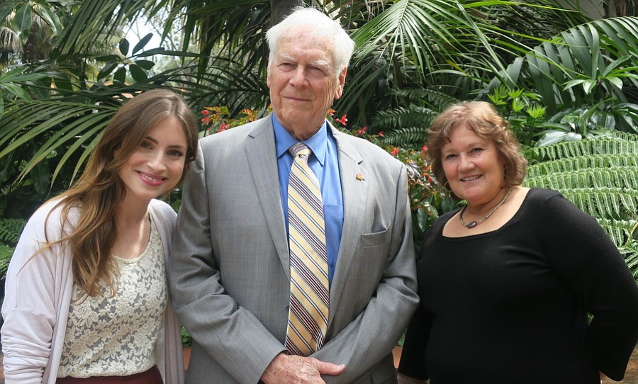 Program Director Kaitlin Lloyd, Board President Roland Bryan, and Director of Animal Care Julia Parker.