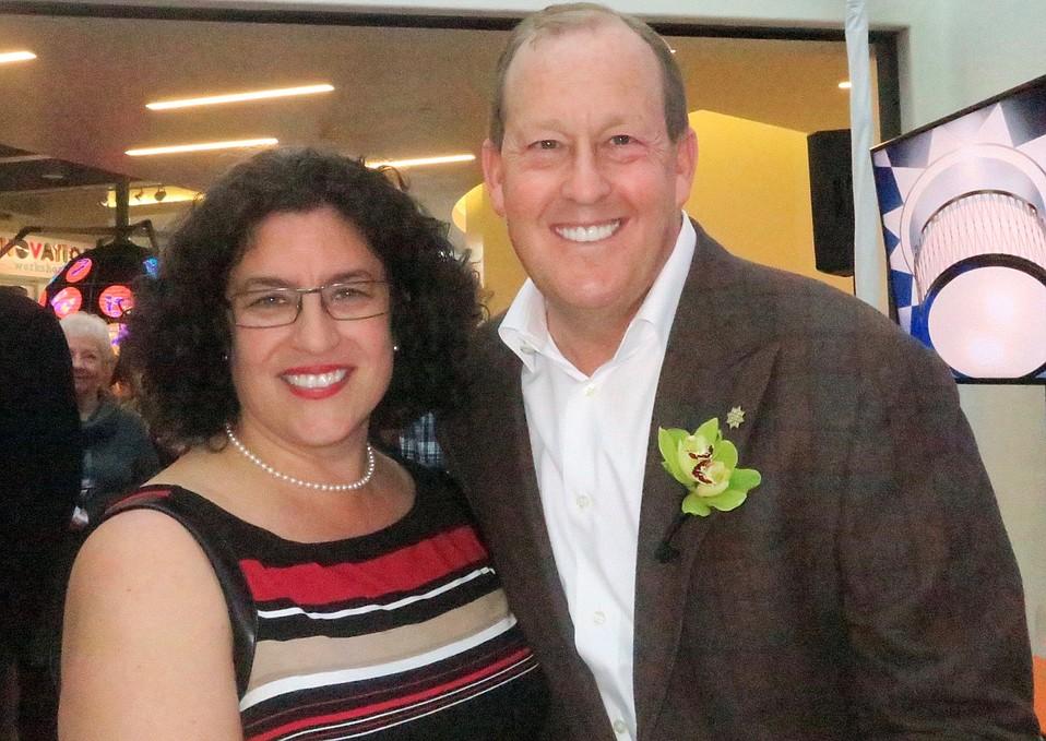 Mayor Helene Schneider and Mike Rosenfeld, owner and developer of Hotel Californian.