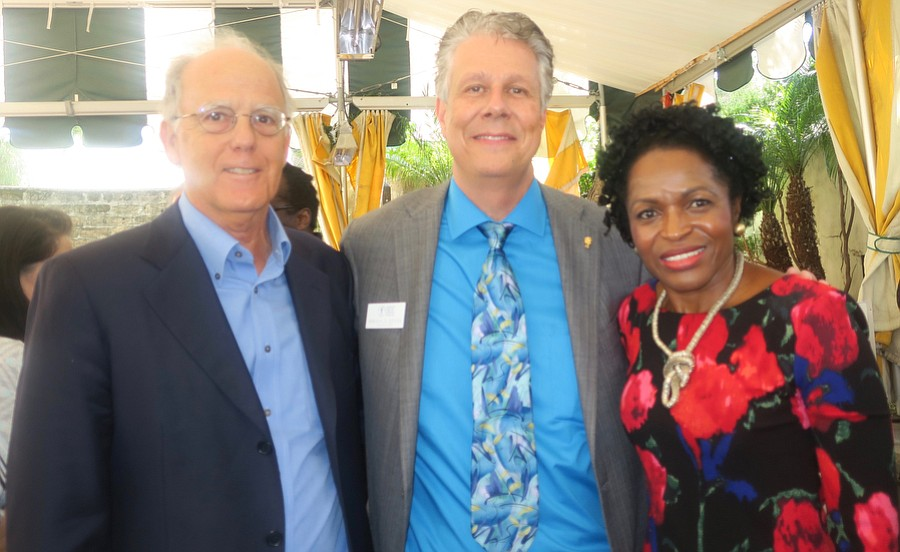 Board Member W. Wright Watling, President and CEO Randal Avolio, and Dr. Helena Ndume.