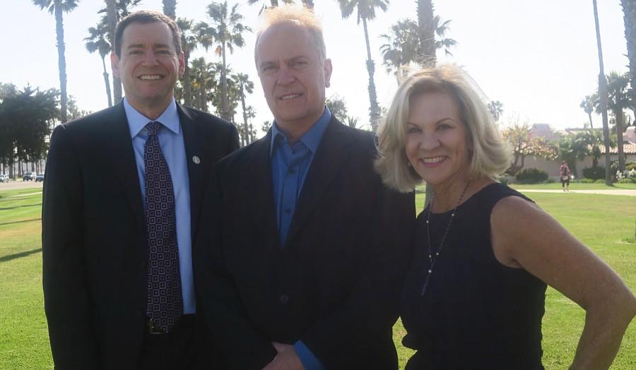 Steering Committee Co-chair Arnold Brier, Pioneer Award recipient John Petote, and Steering Committee Co-chair Renee Grubb.