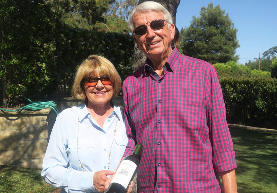 Val Montgomery and Board President Bob Montgomery, owners of Montgomery Vineyard.