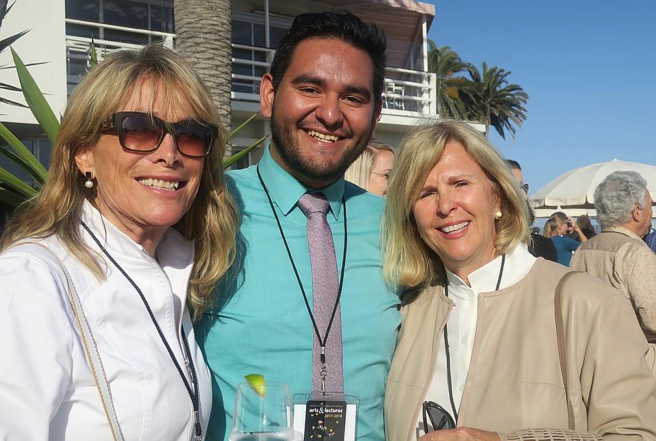 A&L Ambassador DC McGuire, Development and Marketing Associate Hector Medina, and A&L Council Co-chair Kath Lavidge.