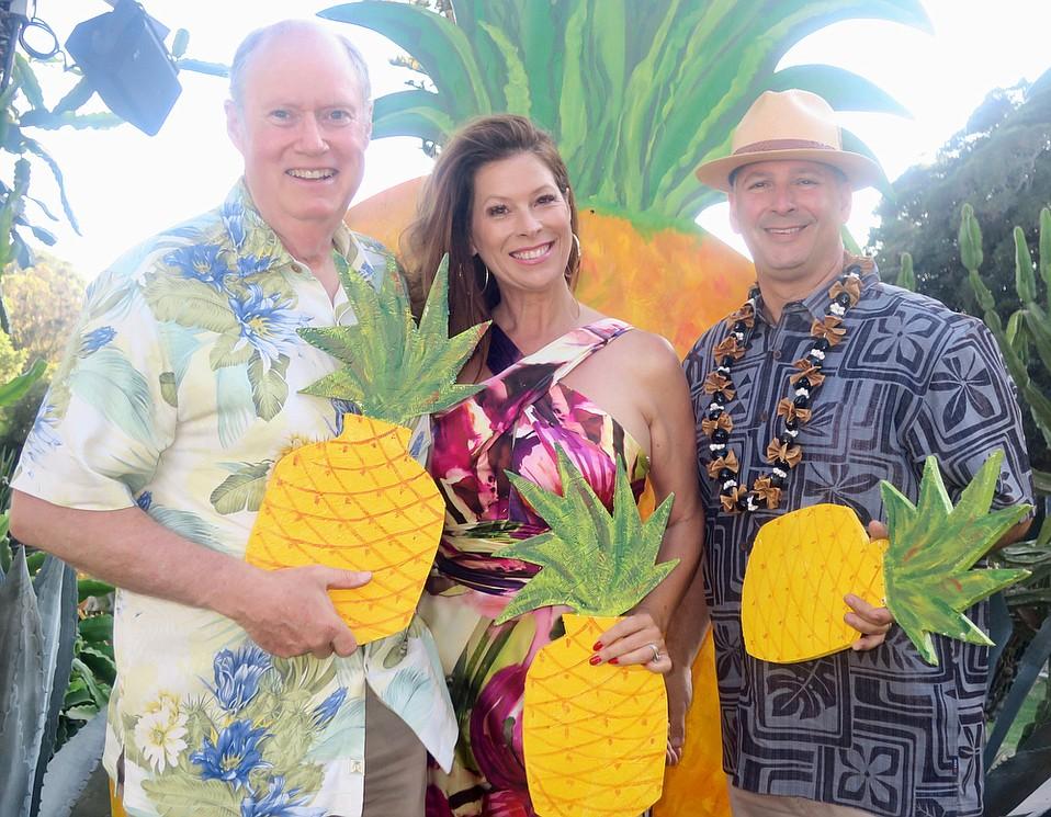 CEO Rich Block, Board Chair Rhonda Ledson Henderson, and her husband, Ben Feld