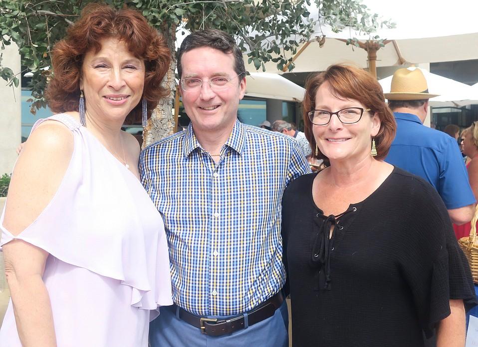 Executive Director Ellen Goodstein, Board President Dr. Alex DePaoli, and Laura DePaoli.
