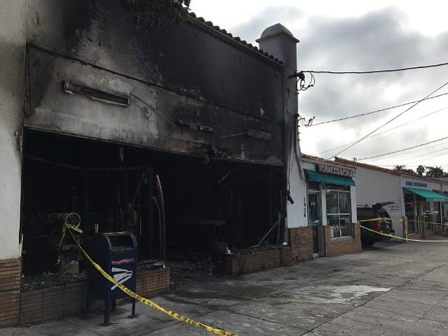 Bubbles & Beans Laundromat and De la Vina Shoe Repair sustained extensive damage.