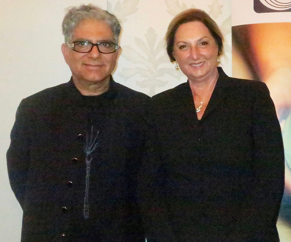Honorees Deepak Chopra and Marianne Partridge.
