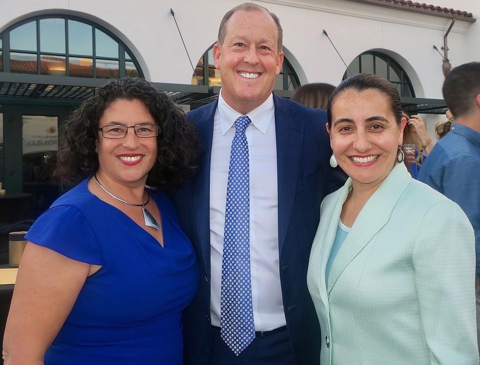 Mayor Helene Schneider, Woodridge Capital Partners CEO Mike Rosenfeld, and State Assemblymember Monique Limón.