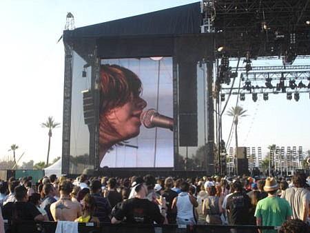 Coachella offers bands and fans the opportunity to brave the heat and enjoy the music. Placebo isn't impressed.