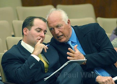 It was a long afternoon for Randy Welty (left) and his spokesperson Richard Adam at the County Board of Supervisors this week as the two tried to defend Welty&#39;s plan to build a 13,000-square-foot home on the Gaviota Coast.