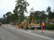 The start of construction on the 101 freeway
