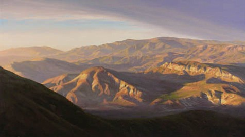 """""""S.B. Backcountry Series #4: Afternoon,"""" oil on canvas."""