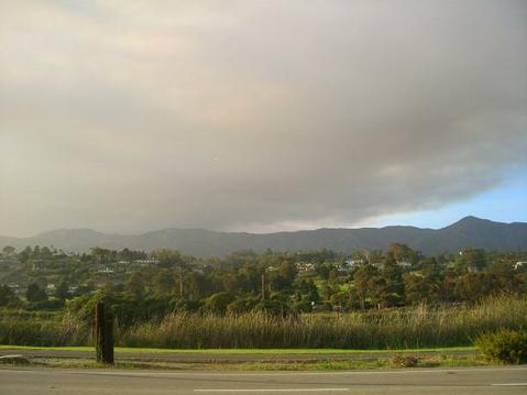 Zaca Fire smoke as seen from the Bird Refuge