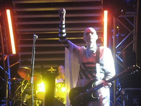 Billy Corgan on stage at the Fillmore San Fransisco